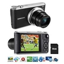Câmera Samsung Smart Wb350f Preta – 16.3mp, Lcd Touch De 3.0