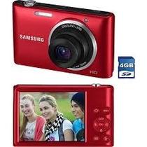 Câmera Digital Samsung St72 Vermelha, 16.2mp, 5x Zoom Óptico