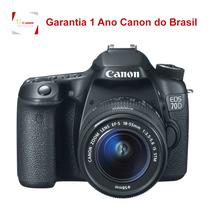 Câmera Dslr Canon Eos 70d Com Lente 18-55mm Nacional
