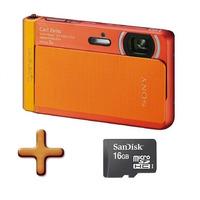 Câmera Digital Sony Dsc-tx30 18.2mp A Prova Dágua + Cartão