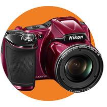 Câmera Digital Nikon Coolpix L830 Vermelha 16mp, Full Hd, Lc