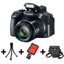Camera Canon Sx60hs+32gb+bolsa+tripé+nf+garantia 1 Ano