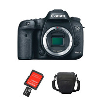 Câmera Eos Canon 7d Mark Ii Corpo + Sd32gb, Bolsa E Kit Lp