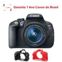 Canon T5i 18-55mm Nacional 1 Ano Garantia + Capa De Silicone