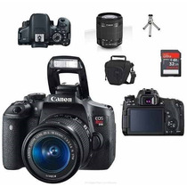 Canon Eos T6i + 18-55mm + Bolsa +tripé+32gb Cl 10 + Kit Limp