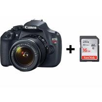 Câmera Canon Eos Rebel T5 Dslr Lente 18-55 + Cartão Sandisk