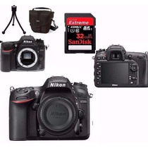 Câmera Nikon D7200 Corpo+bolsa+tripé+32gb C/10 12x Sem Juros