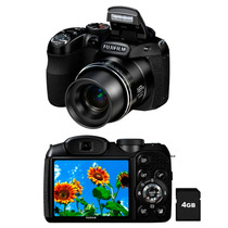 Câmera Fuji S2980 14mp Lcd 3.0 Zoom Óptico 18x Cartão 4gb