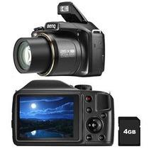 Câmera Digital Benq Gh650 Preta 16mp Lcd 3 Zoom Óptico 26x