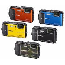 Camera Nikon Coolpix Aw130 16mp - Resistente A Agua + 32gb