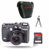 Kit Maquina Canon Powershot G16,12.1mp,zoom 5x,full Hd,wi-fi