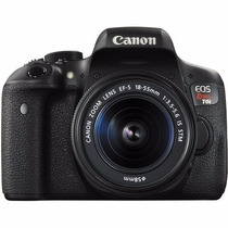 Maquina Canon Eos Rebel T6i Dslr Camera With 18-55mm Lens