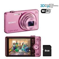 Câmera Dig. Sony Wx200 18.2 Mp, Lcd 2,7, Zoom 10x, Hd, Wifi
