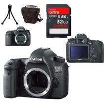 Câmera Canon Eos 6d Corpo+bolsa+tripé+32gb C/10+kit Limpeza/