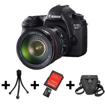Camera Canon Eos 6d+lente 24-105mm+32gb+bolsa+tripé