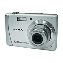 Camera Digital Alba Sl1231 12mp Prata + Carr + 2 Bat (#10a7)