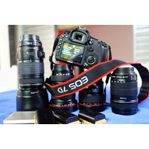 Canon 7d, 24mm 1.4, 16-35mm 2.8, 18-135mm, 70-300mm - Pacote