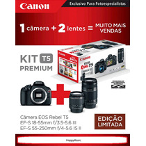 Canon Kit T5 Premium 18~55mm + 55~250mm+ 32gb+ Case+ Tripé