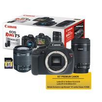 Premium Kit Canon T5 + Lente 18-55mm + 55-250mm + Cartão 8gb