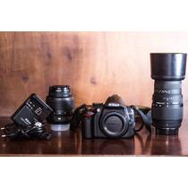 Câmera Nikon D3000 + Lente 18-55mm + Lente Sigma 70-300mm