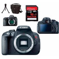 Câmera Canon Eos T5i Corpo+bolsa+tripé+32gb C/10+kit Limpeza