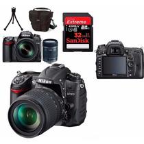Câmera Nikon D7000 +18-105 +bolsa+tripé +32gb +12x Sem Juros
