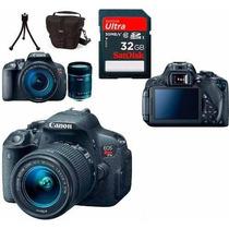 Câmera Canon Eos T5i+18-135+bolsa+tripé+32gb+garantia Canon