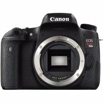 Maquina Canon Eos Rebel T6s Corpo 24.2mp, Full Hd, Wi-fi