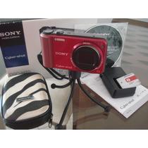 Câmera Sony Cyber Shot Dsch70 16.1 Red Rouge Semi-nova