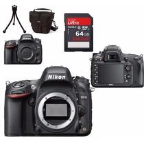 Câmera Nikon D610 Corpo+bolsa+tripé+64gb C/10+kit Limpeza !!