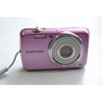 Câmera Digital Samsung Usada Com Defeito Pl20 14 Mp Rosa