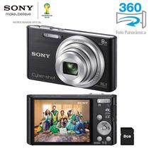 Câmera Digital Sony Cyber-shot Dsc-w730 Preta Com 16.1 Mp