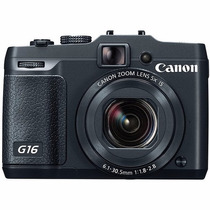 Maquina Canon Powershot G16, 12.1mp, Zoom 5x, Full Hd, Wi-fi