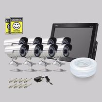 Kit Dvr Stand Alone Monitor 8 Canais Intelbras 8 Camera Sony