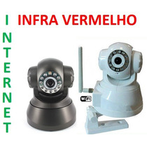 Camera Ip Ir Wireless Internet Visão Noturno Sensor
