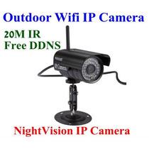 Camera Ip Externa Wireless Sem Fio Internet Iphone E Android