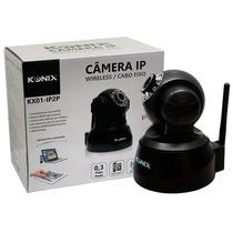 Câmera Ip Wireless P2p Visão Noturna Controle Via Cel. Konix