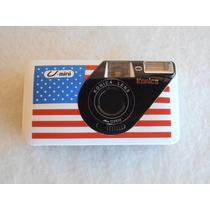 Rara Maquina Fotográfica U - Mini Konica Bandeira Americana