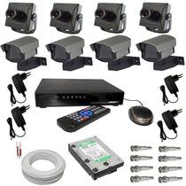 Kit Completo 4 Micro Câmeras E Dvr Luxvison Full D1- Hdmi
