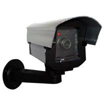 Câmera Falsa Com Led Segurança Garagem Residencia Comercios