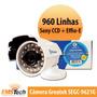 Câmera Greatek Segc-9621g 960 Linhas Ccd Sony 24 Leds Infra