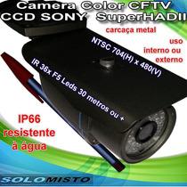 Camera Infravermelho Cftv Ccd Sony Lente 3.6mm Ir 36 Leds