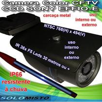 Camera Infravermelho Cftv Ccd Sony Effio-e Lente 3.6mm/f2.0