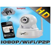 Kit 3 Peças Câmera Ip 2.0 Megapixel Wifi Ips Sd Card