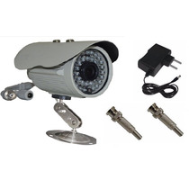 Câmera Infra Ccd Sony 1/3 1000 Linhas + Fonte 12v X 1a + Bnc