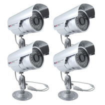 Kit Com 4 Câmeras De Segurança Residencial Com 1000 Leds