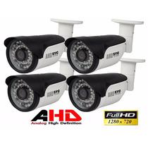 Kit 4 Câmera Infra Ahd M 1.0 Megapixel Alta Resolução Hd