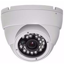 Câmera Dome Cftv Infra Ccd 1200 Linhas 24 Leds + Fonte