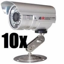 Kit Com 10 Câmeras Segurança Infravermelho Ccd Sony Co83