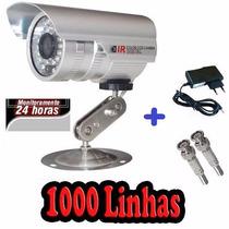 Camera Infravermelho 30mts Ccd Sony 1000 Linhas + Fonte 1a